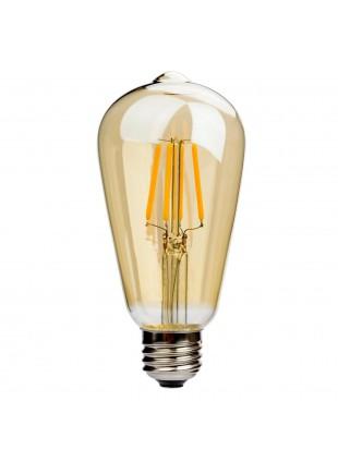 Lampadina Lampada a filamento LED 6W E27 Luce Calda 2200K 500 Lumen V-TAC
