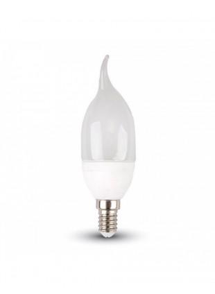 Lampadina a Led E14 Luce Bianca Calda 2700 Kelvin Potenza 4W Forma Fiamma Bulbo