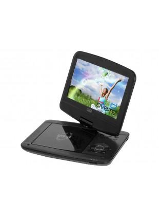 Lettore DVD nero 250X191X42 mm display led 9 pollici con rotazione di 180° Trevi