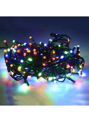 100 Mini Lucciole Luci di Natale per Presepe Albero Multicolore Luminoso