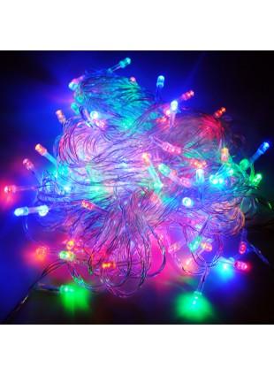 100 Mini Lucciole Luci di Natale per Presepe Albero Multicolor Luminoso