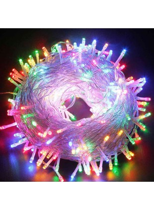 600 Mini Lucciole Luci di Natale per Presepe Albero Luce Multicolor Luminoso