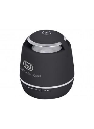 Mini altoparlante nero Trevi 6x6x7cm con bluetooth risponditore vivavoce mp3 wma