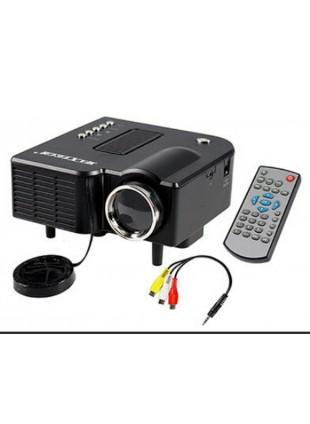Proiettore Piccolo Mini  Videoproiettore 24 W 1080 Pixel 800x480 Speaker 2W Nero