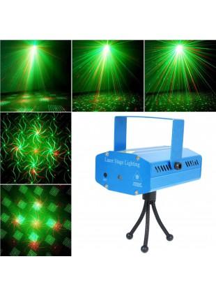 Proiettore Mini Laser Effetto Luci per Disco Illuminazione Discoteca