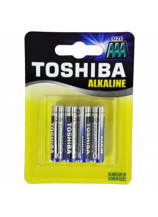 4 Batterie Ministilo AAA Pile Pila Batteria TOSHIBA Alkaline Alcaline