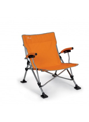 Spiaggina Sedia pieghevole Richiudibile Mare Campeggio Ferro Orange Ischia Berto