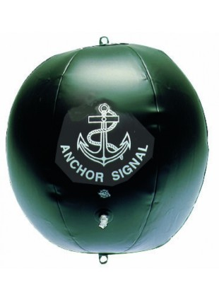 Sfera nera gonfiabile diametro 40 mm da segnalazione strumenti nautica accessori
