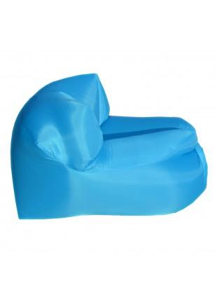 Poltrona Sacco Smart Gonfiabile ad Aria Autogonfiante Campeggio Azzurra
