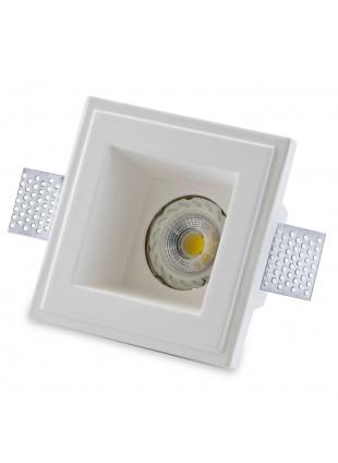 Porta Faretto Gesso a Scomparsa ad Incasso Lampadine LED GU10 ISYLUCE 804 12 Cm