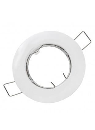 Porta faretto Supporto per faretti Lampade GU10 a led LIFE bianco Foro 60 mm