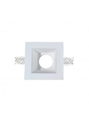 Portafaretto compatibile con lampadine GU10 e GU5.3 in gesso quadrato V-Tac