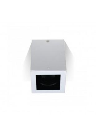 Portafaretto Bianco Quandrato Orientabile da soffitto per Lampadine GU10 GU5.3