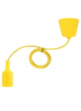 Portalampada a Sospensione E27 in Silicone Lampadario Cavo giallo