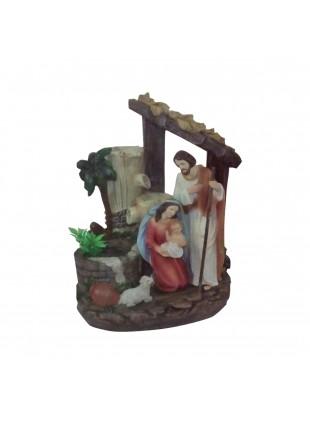 Natività Sacra Famiglia Natale Pozzo con Acqua vera A Riciclo Motorino Luce Led