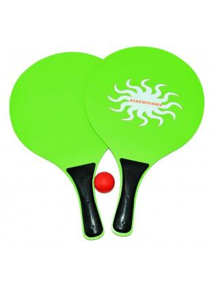 Racchettoni da Spiaggia Racchette Beach Tennis in PVC Verdi