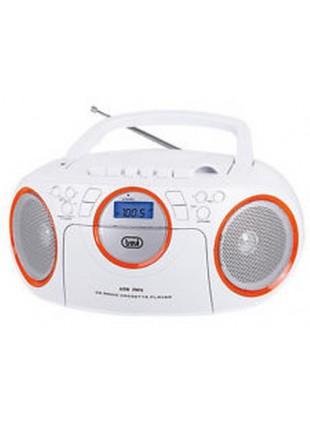Radio con Registratore Lettore Cd Presa usb Multibanda Bianco Arancio 0CM57201