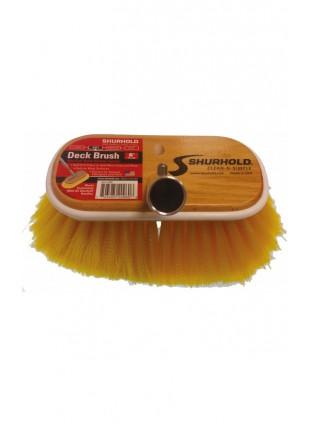 Spazzola Shurhold 15 cm in Legno Pulizia Barca Gommone con Setole Poliestere