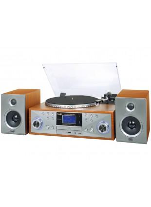 Stereo Giradischi lettore Mp3 Cd dischi in legno lucido funzione full Encoding