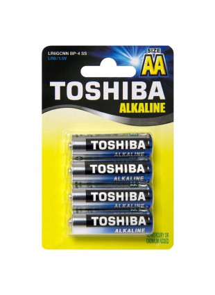 4 Batterie STILO AA Pile Pila Batteria TOSHIBA Alkaline Alcaline