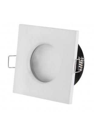 Porta Faretto Portafaretto Bianco Quadrato per Lampade LED MR16 PAR16 LIFE
