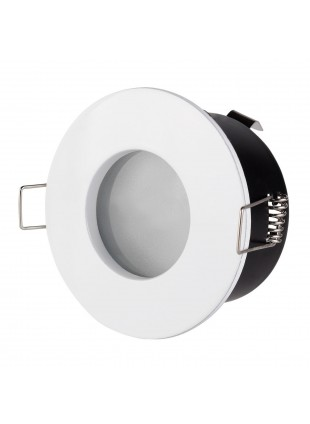 Porta Faretto Portafaretto Bianco Rotondo per Lampade LED MR16 PAR16 LIFE