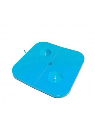 Tavolino Tavolo fisso Vassoio aste ombrelloni Adattatore Per lattine Lattina Blu