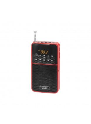 Mini radiolina Radio tascabile e portatile con Autostore AM FM Rosso USB Trevi