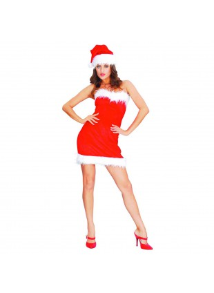 Costume Babbo Natale Donna Sexy Lady Christmas Taglia Unica