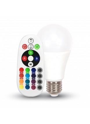 Lampadina Lampada Led E27 6W Bulb RGB con Telecomando V-TAC VT-2022 Luce Fredda